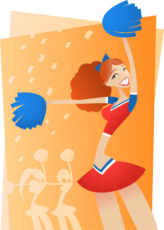 Cheering Cheerleader illustration