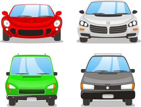 car front: Front car icon illustrations