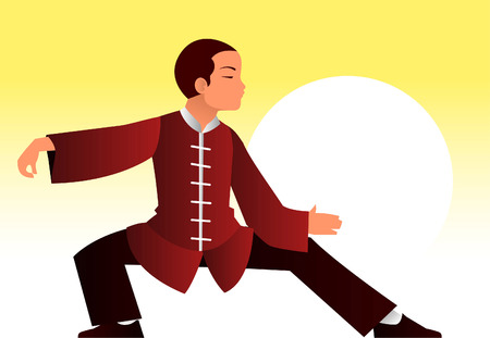 tai chi: Kung fu man illustration