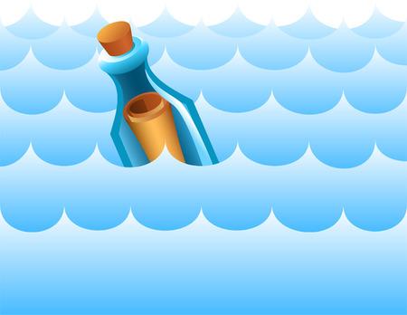 message in a bottle: Message in a bottle