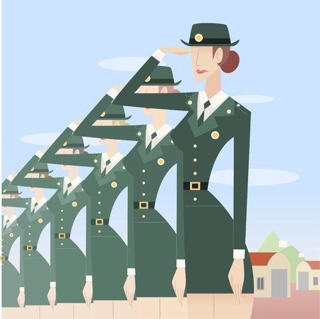 formation: Military woman formation