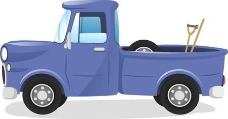 camioneta pick up: Tome el carro ilustración Vectores