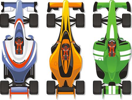 Sports car racing illustration Çizim