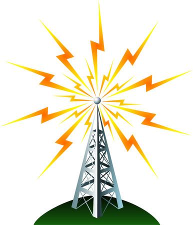 Radiotoren transmition Stock Illustratie