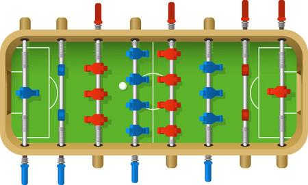 Fútbol ilustración vectorial tabla. Juego de mesa, kicker, footzy, barra de fútbol, ??fútbol de mesa, pie del bebé, futbolin. Foto de archivo - 34230219