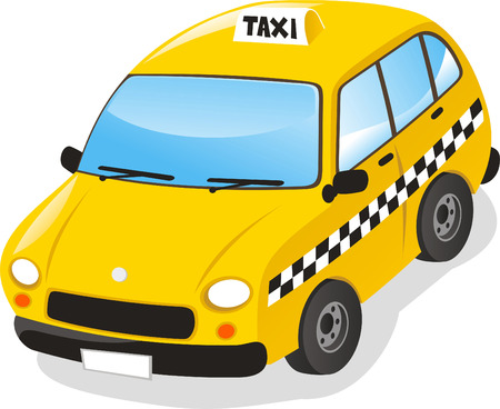 Taxi cab vector illustration cartoon.