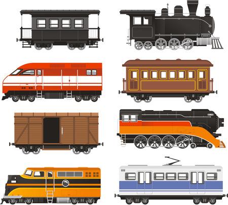 tren: Ilustraci�n vectorial de tren Locomotora Transporte Transporte Ferroviario.