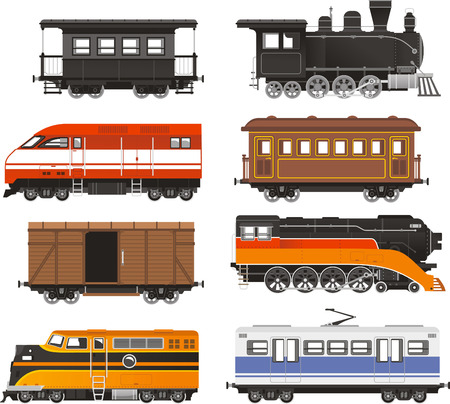 Train Locomotive Transportation Railway Transport vector illustration. Çizim