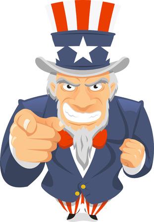 Uncle Sam Wants You vector illustration.