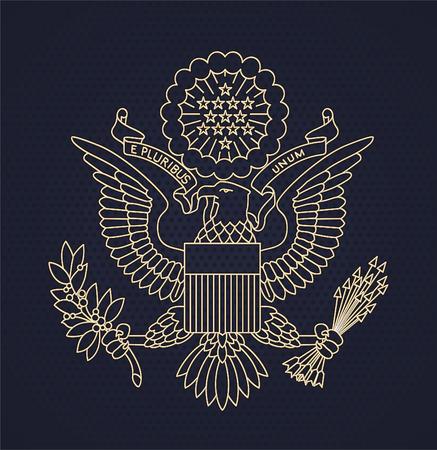 アメリカ合衆国のパスポート シール ベクトル イラスト。  イラスト・ベクター素材
