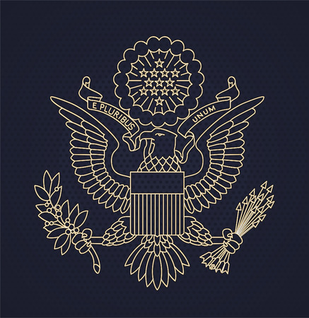 United States of America Passport Seal vector illustration.