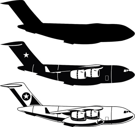 aircraft bomber: War Cargo Military Airplane vector illustration.