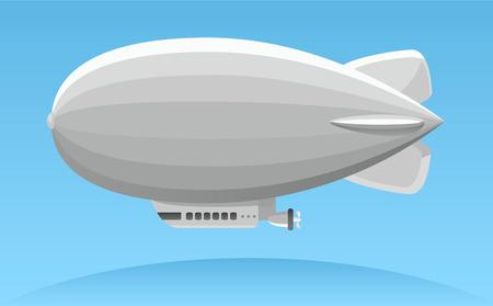 La publicité aérienne zeppelin illustration Banque d'images - 34230281