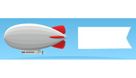 Aerial advertising zeppelin illustration