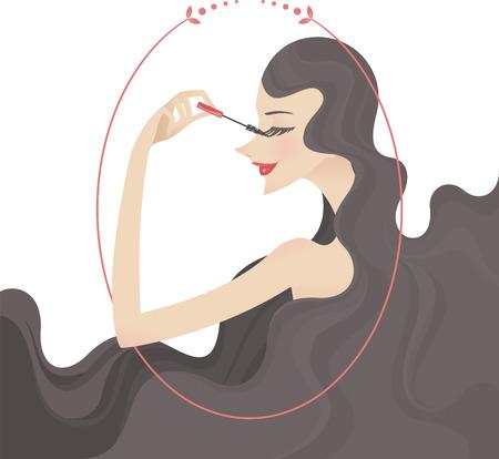 rimmel makeup portrait illustration