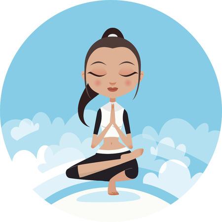 Yoga woman praying pose