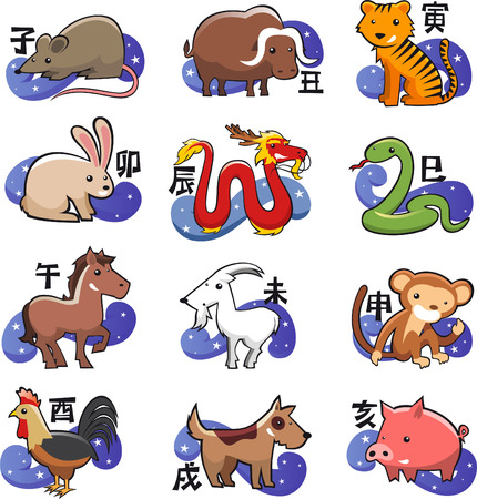 serpiente caricatura: Signo del zodiaco chino icono s�mbolos