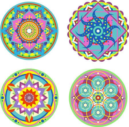veda: Mandala Symmetry Enlightenment Ritual Symbol Illustration