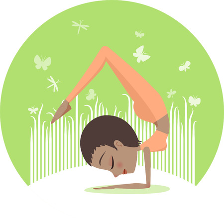 Yoga Handstand Scorpion pose
