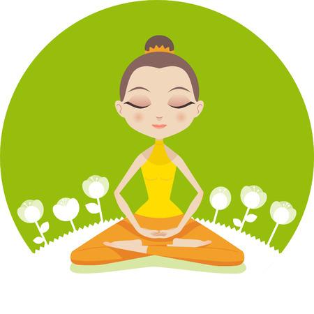 Yoga woman lotus meditative pose