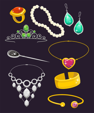 cuff: Jewelry Set illustration cartoon.
