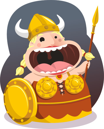 theatrical performance: Opera Singer Theatre Viking Actor cartoon illustration