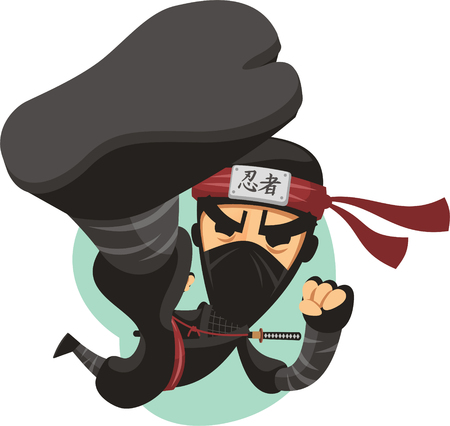 剣との戦いでジャンプ漫画忍者