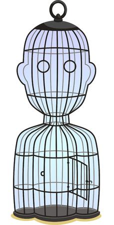 forme: man shape cage