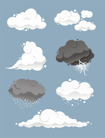 cartoon cloud set Illustration