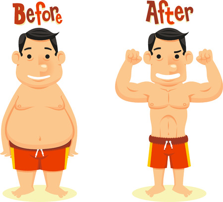 before and after diet weightloss