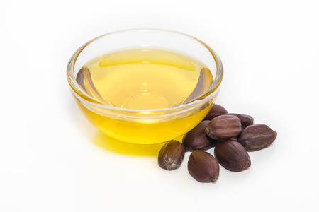 Jojoba olie Stockfoto