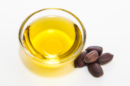 Jojoba oil Stock Photo