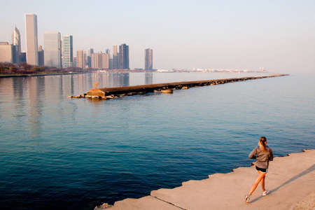 pista de atletismo: Horizonte de Chicago