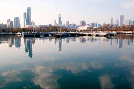Chicago Skyline 版權商用圖片
