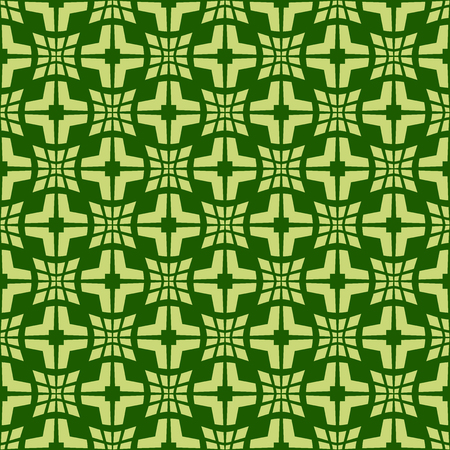 Light green pattern on dark green background. Seamless stylish texture. Creative abstract vector.
