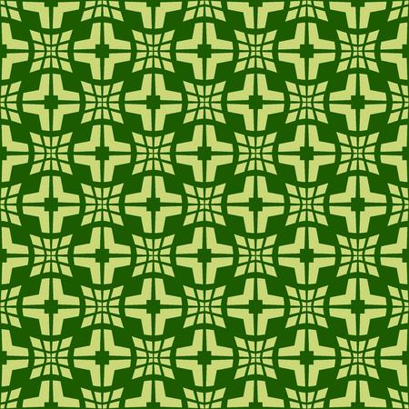 Light green pattern on dark green background. Seamless stylish texture. Creative abstract vector.