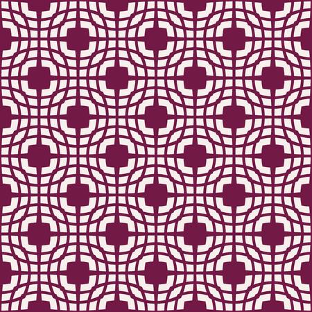 Weiße Muster auf dunkelrotem Hintergrund. Nahtloses Muster. Abstrakter Vektorhintergrund. Vektorgrafik