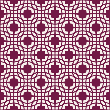 White patterns on dark red background. Seamless pattern. Abstract vector background.