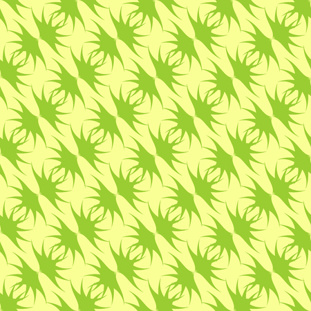 Green pattern on light yellow background. Graphic seamless pattern. For wallpaper.