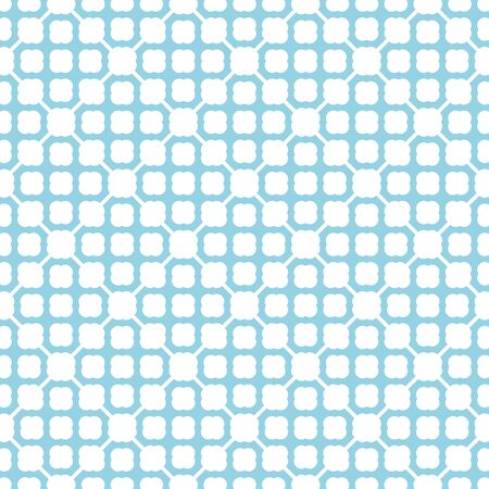 Turquoise pattern on white seamless background.