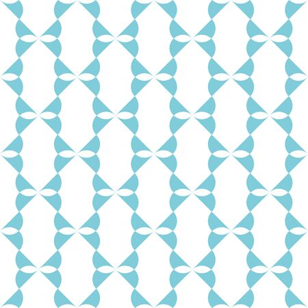 Turquoise pattern on white seamless design background.