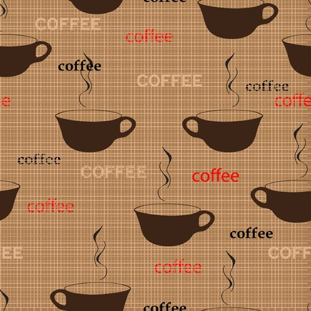 Coffee repetition pattern in fashion trend colors Vector
