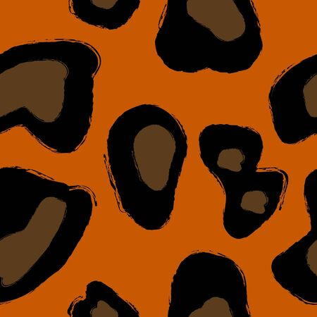 undomesticated: Abstract leopard repetitions Illustration