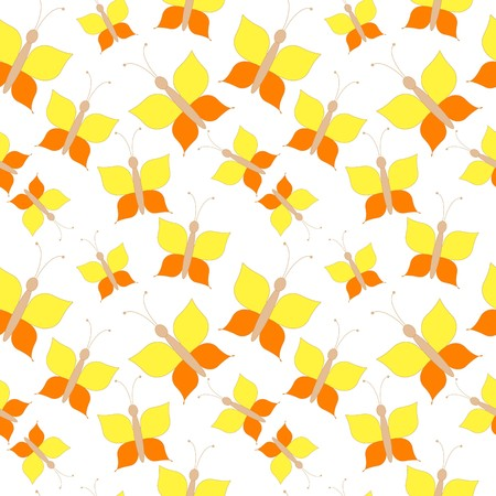 Seamless butterfly pattern with vivid elements Vector