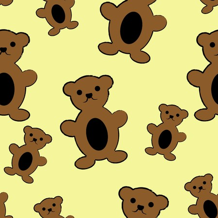 Cute little teddy bears Vector