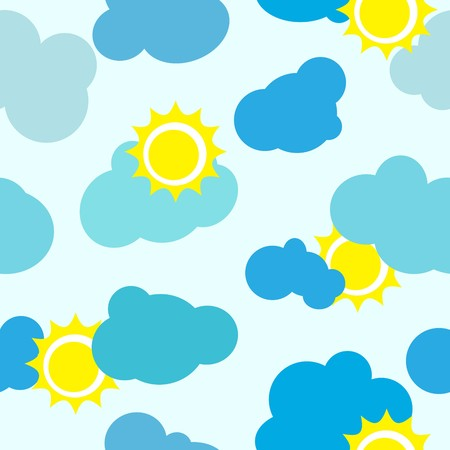Clouds and sun vector repetitions Stock Vector - 7843202