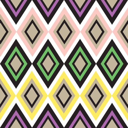 madras: Retro color seamless geometric background