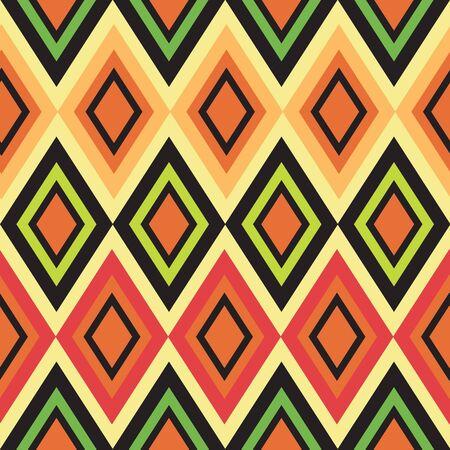 Retro color seamless geometric background Vector