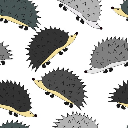 Cute little hedgehogs Vettoriali