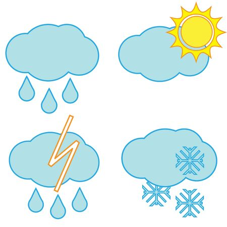 Clouds and sun icons Stock Vector - 7936652